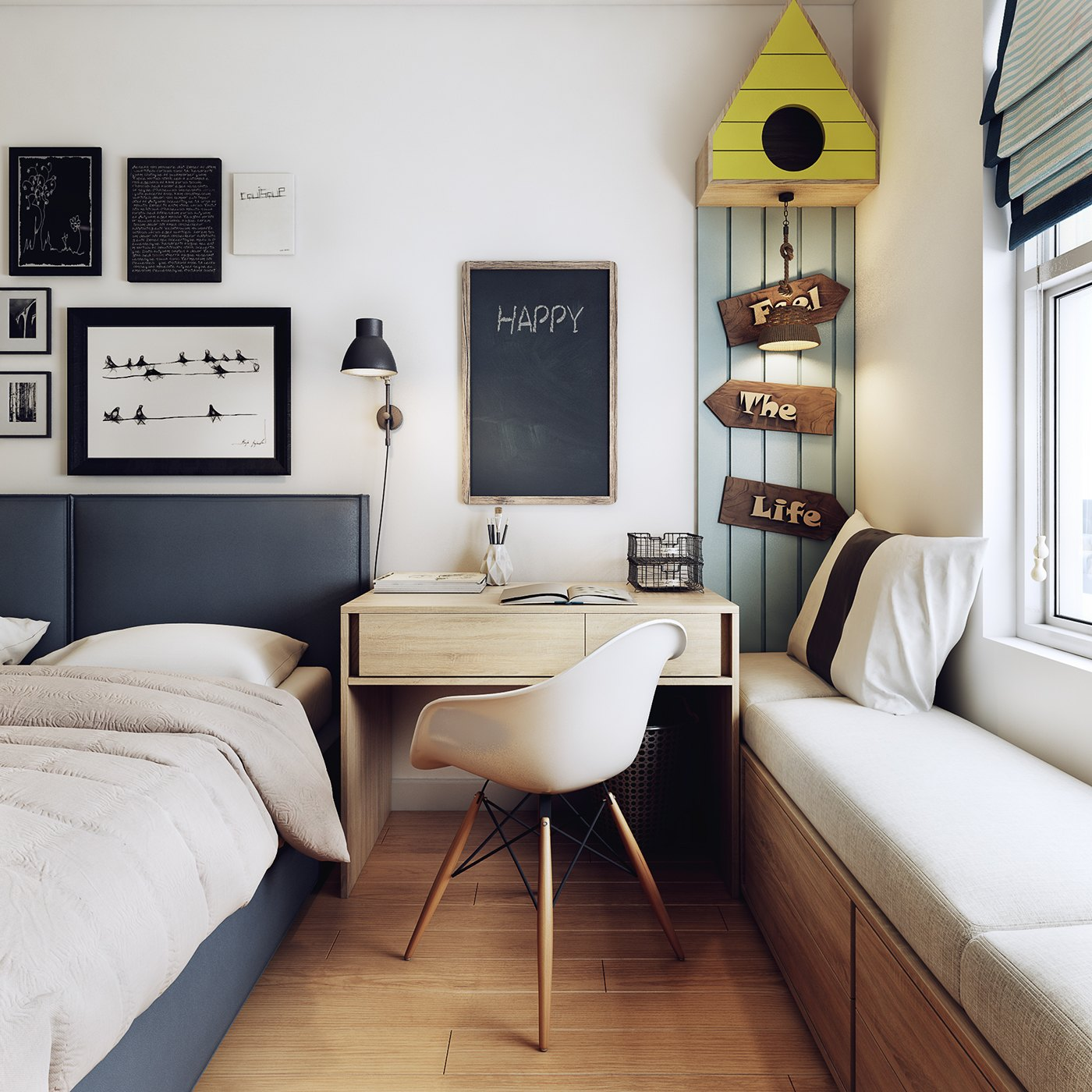 Cute Birdhouse Bedroom Theme - 10 stunning apartments that show off the beauty of nordic interior design