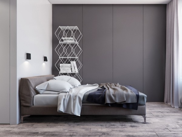 Decorating A Gray Bedroom Two Apartments With Sleek Grayscale Interiors