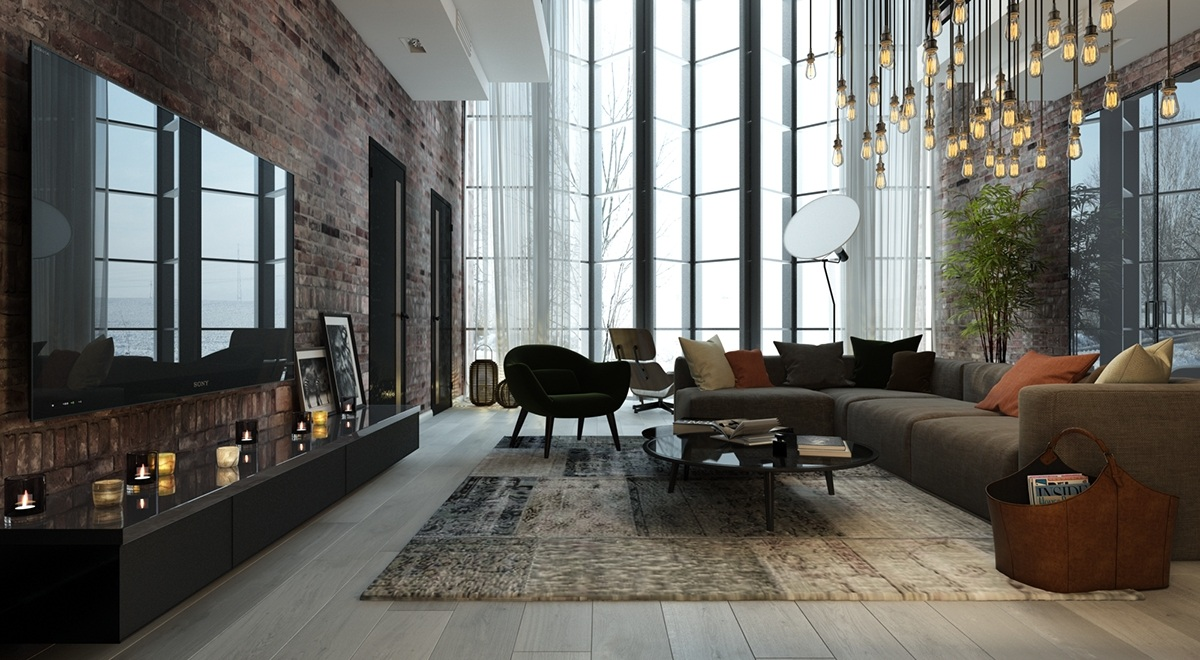 Double Height Windows Inspiration - 5 living rooms with signature lighting styles