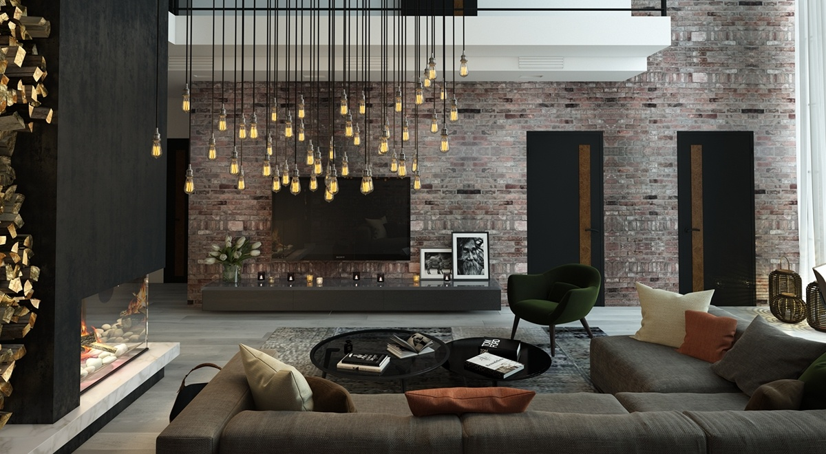 living rooms images.  5 Living Rooms With Signature Lighting Styles