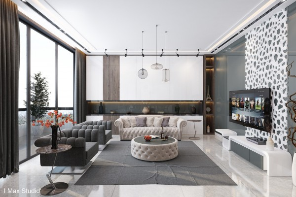 This tour of luxury ends with a gorgeous apartment in Beirut, defined by its contrast between classically inspired furniture and highly contemporary accessories. Built-in storage caters to the functional demands of a space as streamlined as this one, while the bold decorative elements serve as straightforward focal points.
