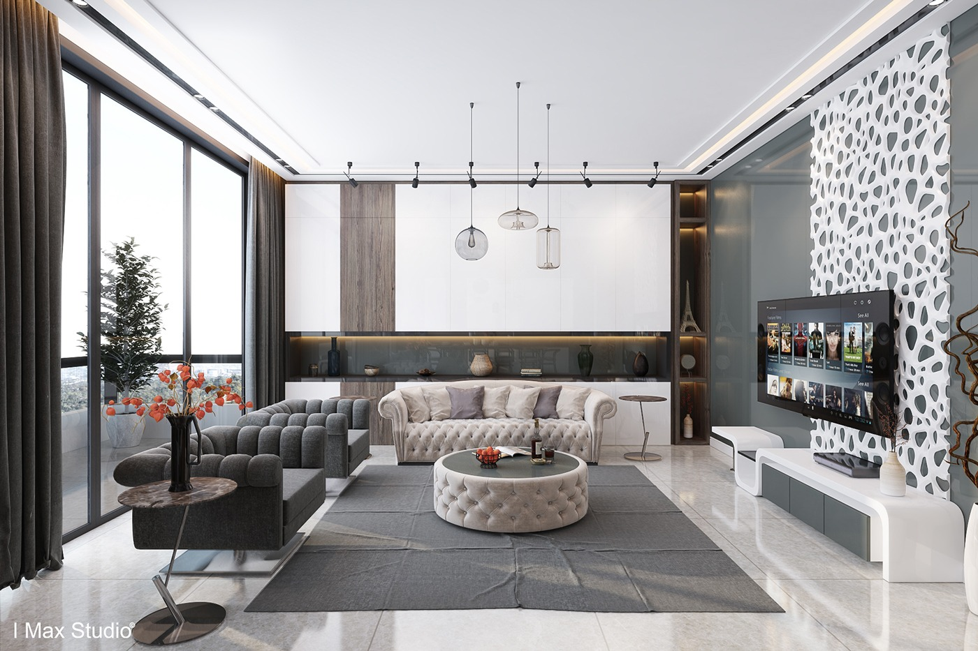 Ultra luxury apartment design for Deco interieur appartement