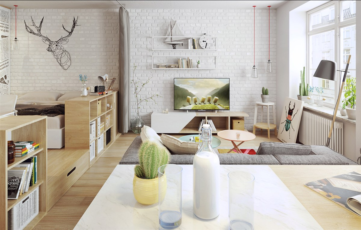 Exposed Brick Nordic Influence - 10 stunning apartments that show off the beauty of nordic interior design