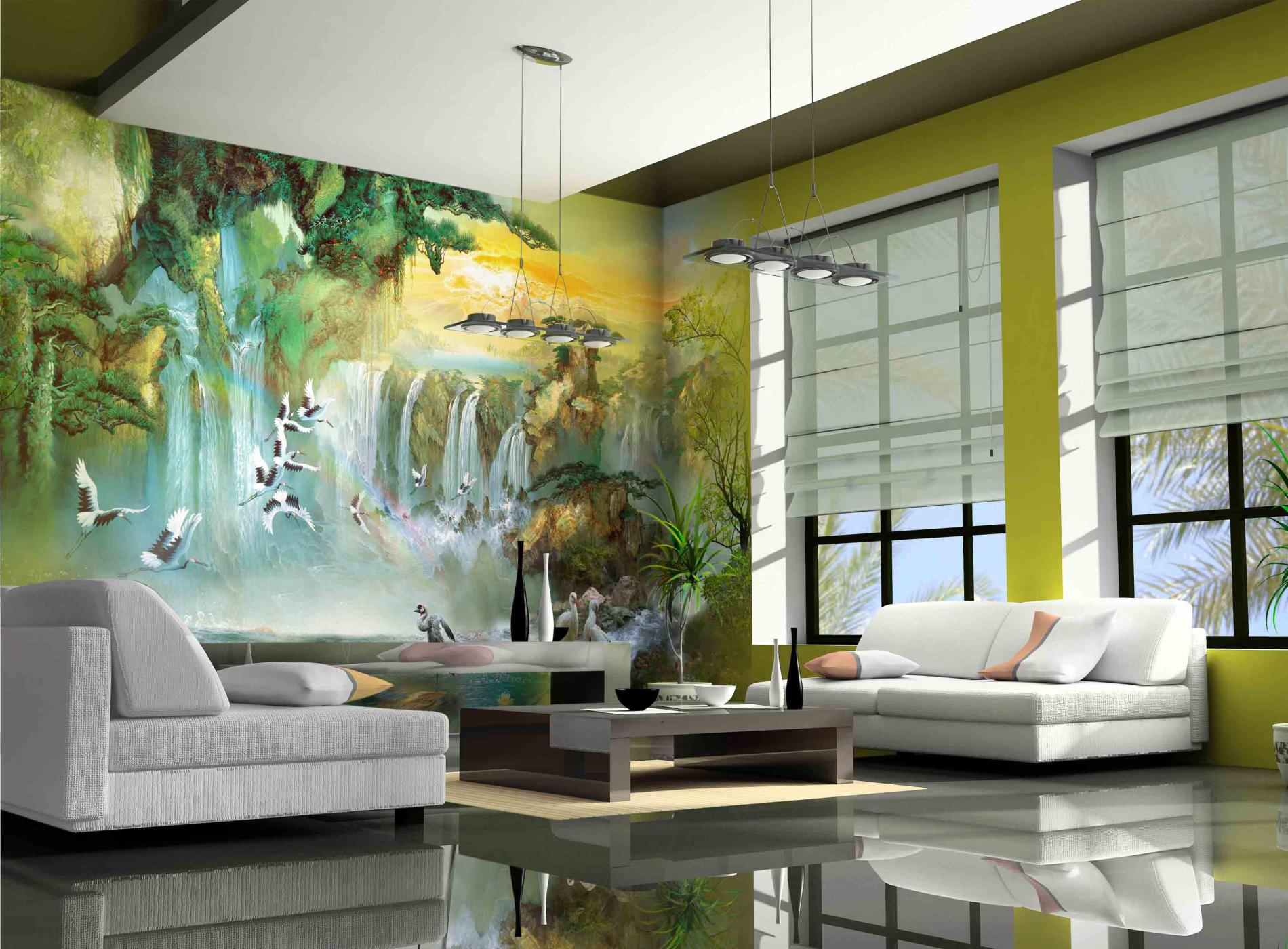 Living Room Wall Murals large wall art for living rooms: ideas & inspiration