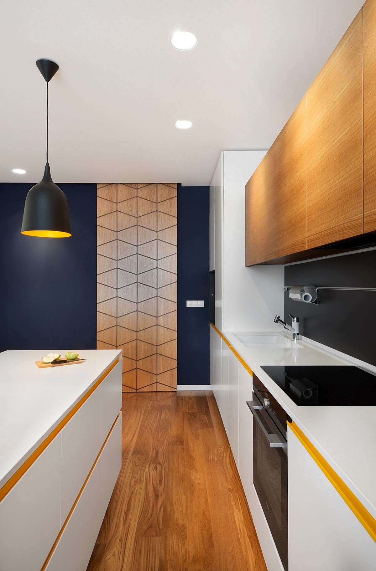 Geometric Door Ideas - A mid century inspired apartment with modern geometric accents