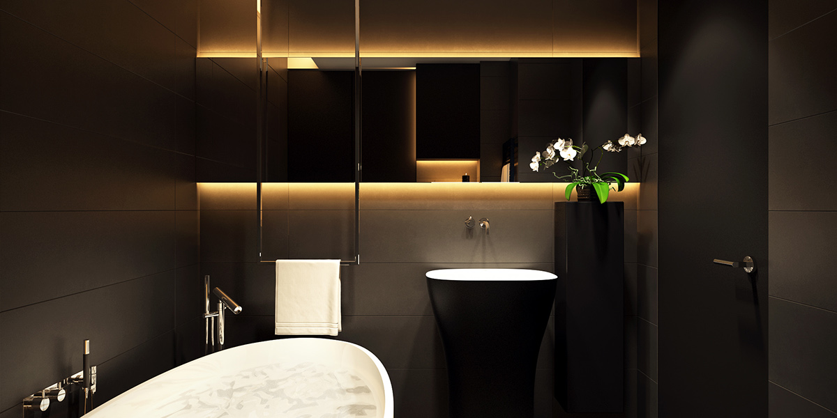 6 perfectly minimalistic black and white interiors for Home decor interiors bathroom