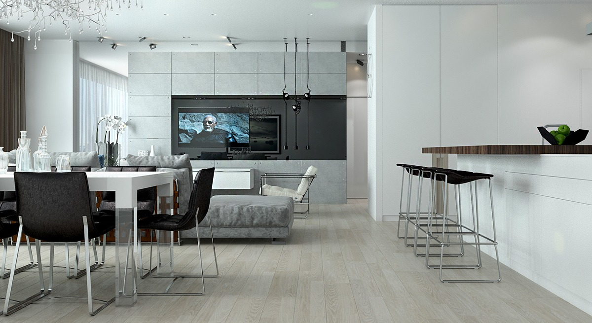Grayscale Interior Ideas - Playful ways to brighten neutral color themes