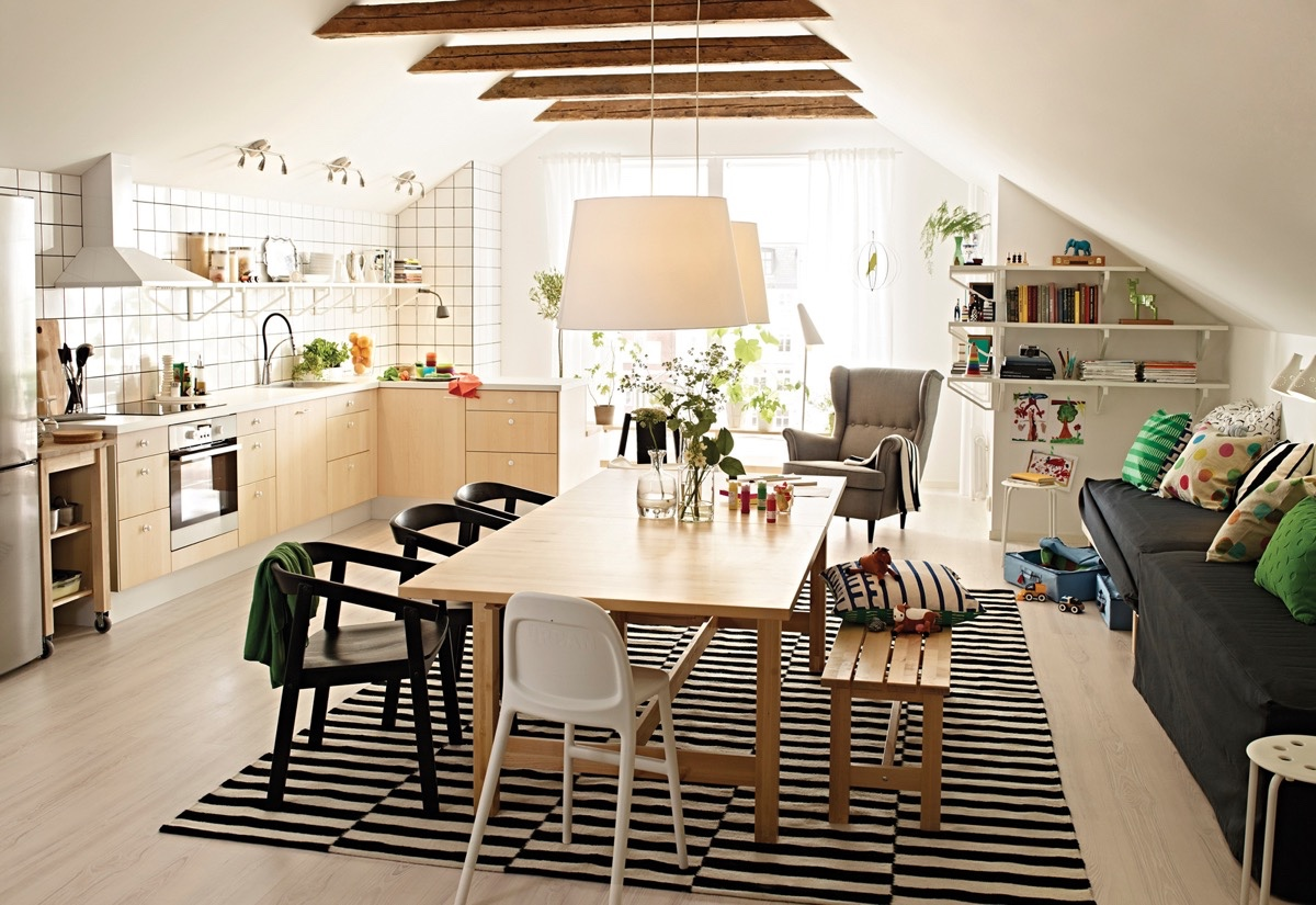 32 more stunning scandinavian dining rooms for Simple dining hall design