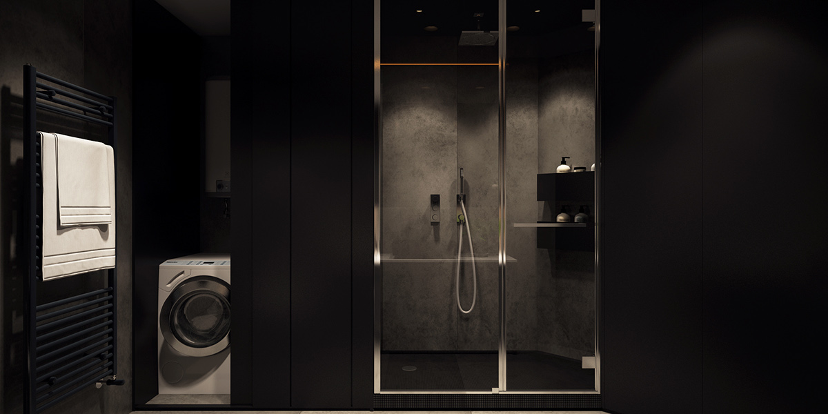 Industrial Bathroom Inspiration - 6 perfectly minimalistic black and white interiors