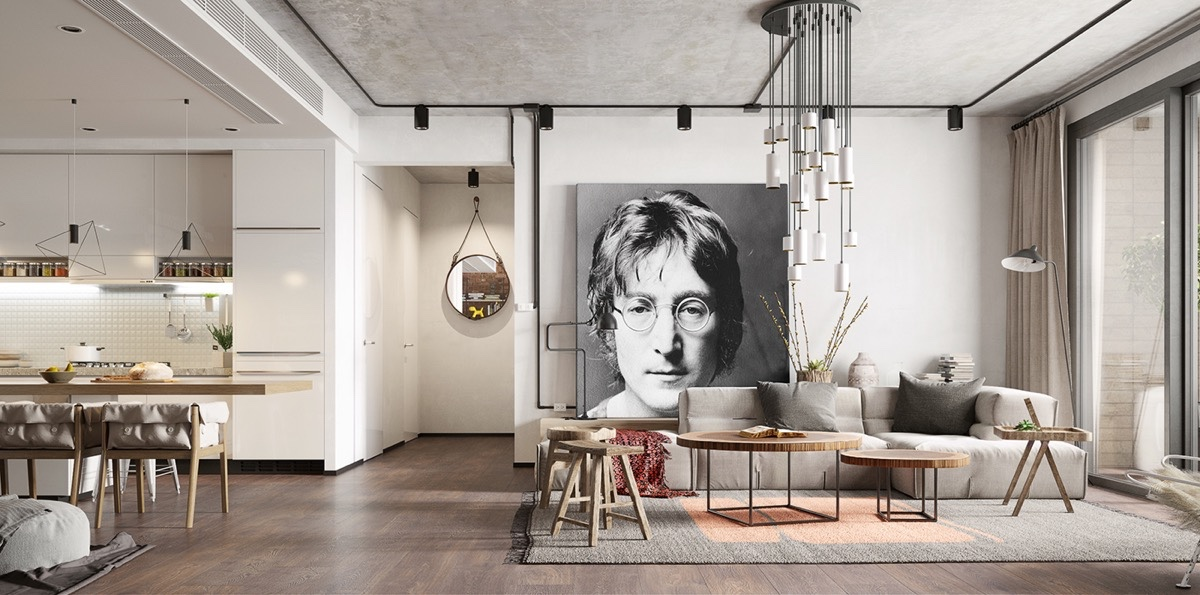 John Lennon Interior Decor - 10 stunning apartments that show off the beauty of nordic interior design