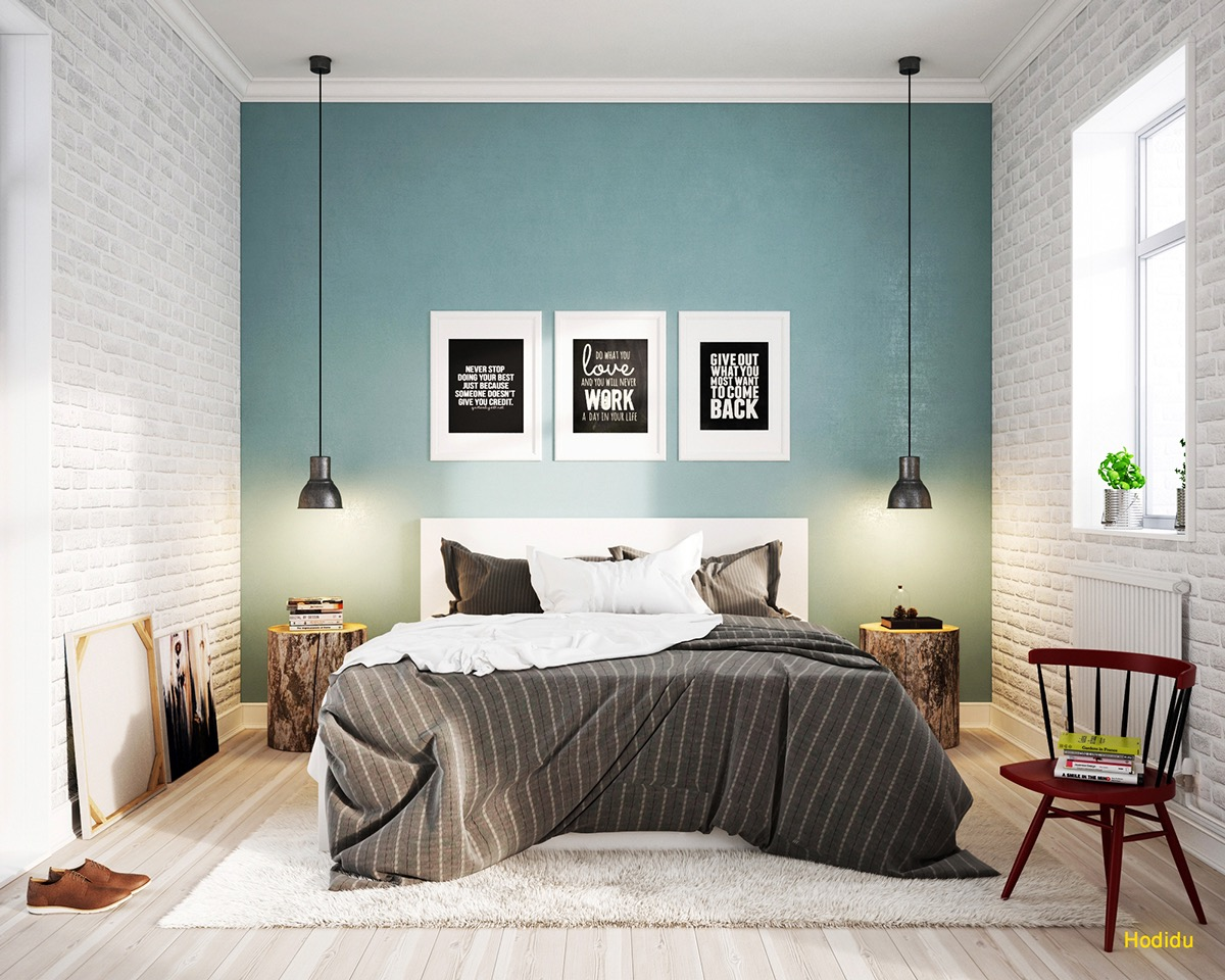 Scandinavian bedrooms ideas and inspiration Blue bedroom