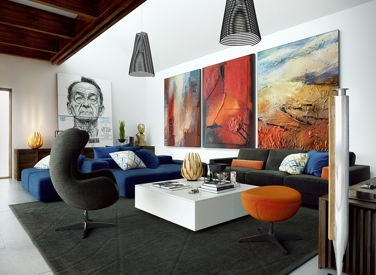 Living Room Ideas Large Spaces large wall art for living rooms: ideas & inspiration