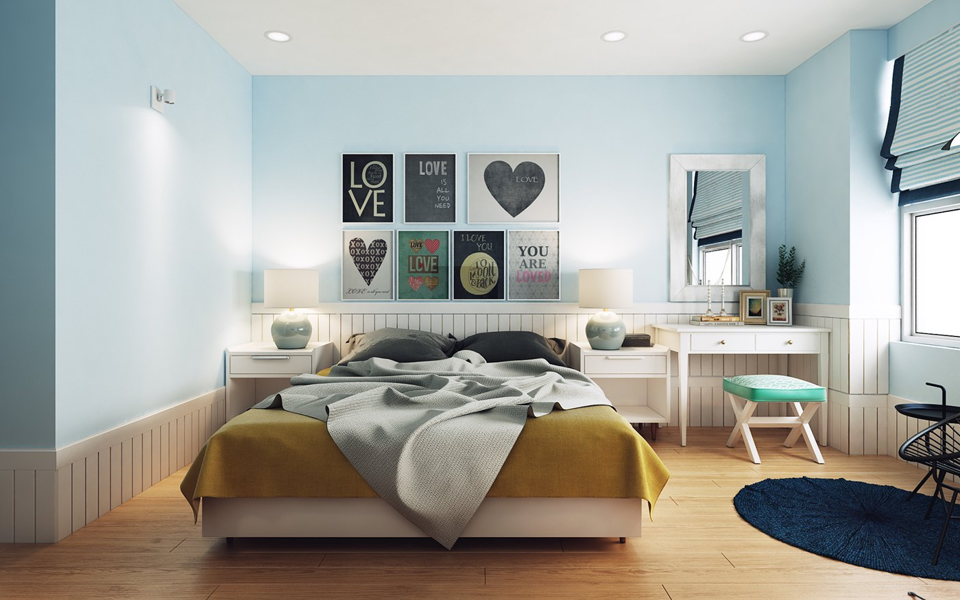 Love Themed Nordic Bedroom - 10 stunning apartments that show off the beauty of nordic interior design