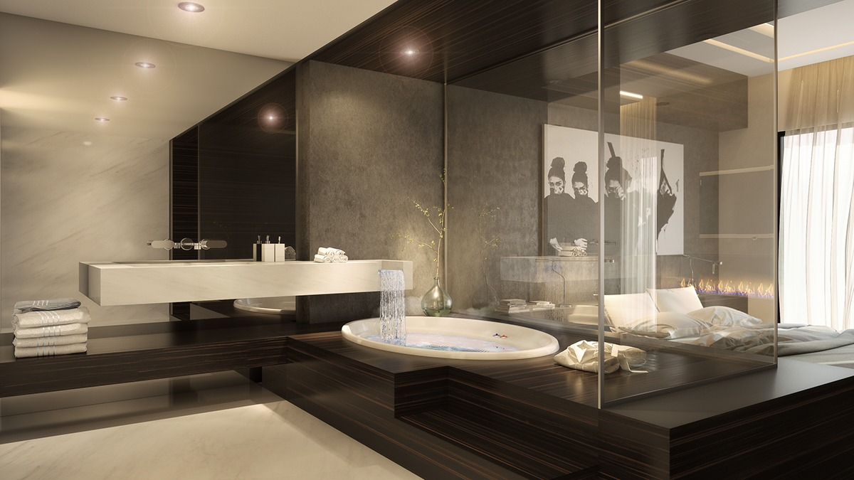 Ultra luxury apartment design Beautiful bathrooms and bedrooms magazine