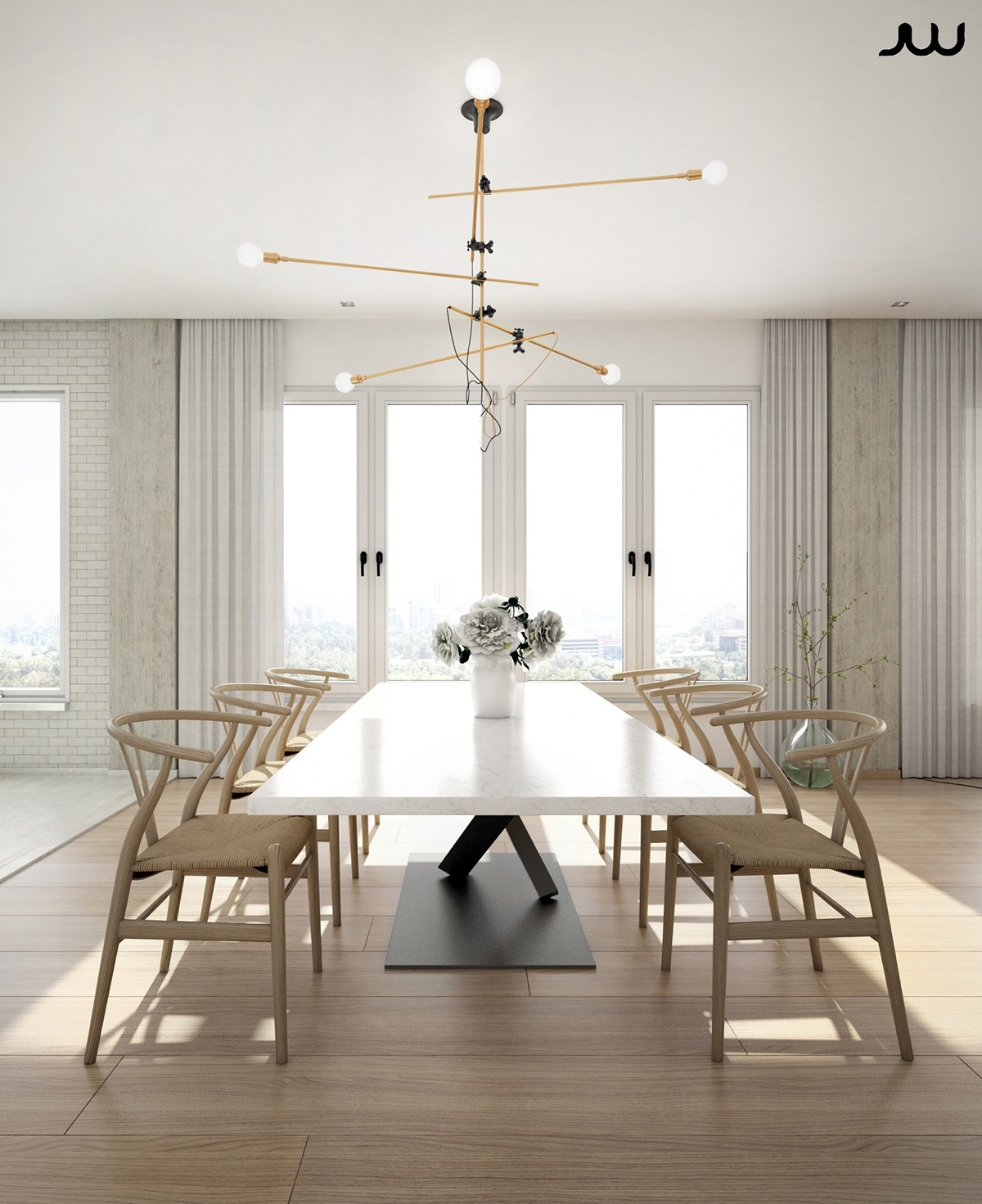 Ultra luxury apartment design for Luxury dining room design