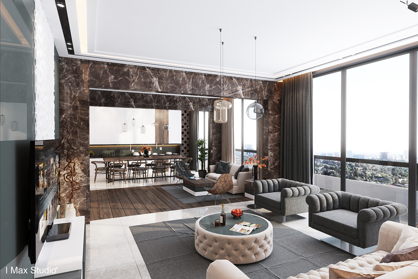 Ultra luxury apartment design for Interieur maison de luxe