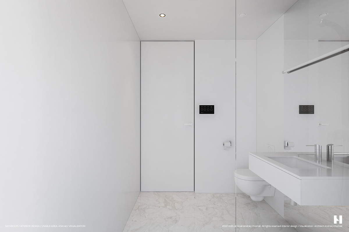6 perfectly minimalistic black and white interiors for Minimalist small bathroom design