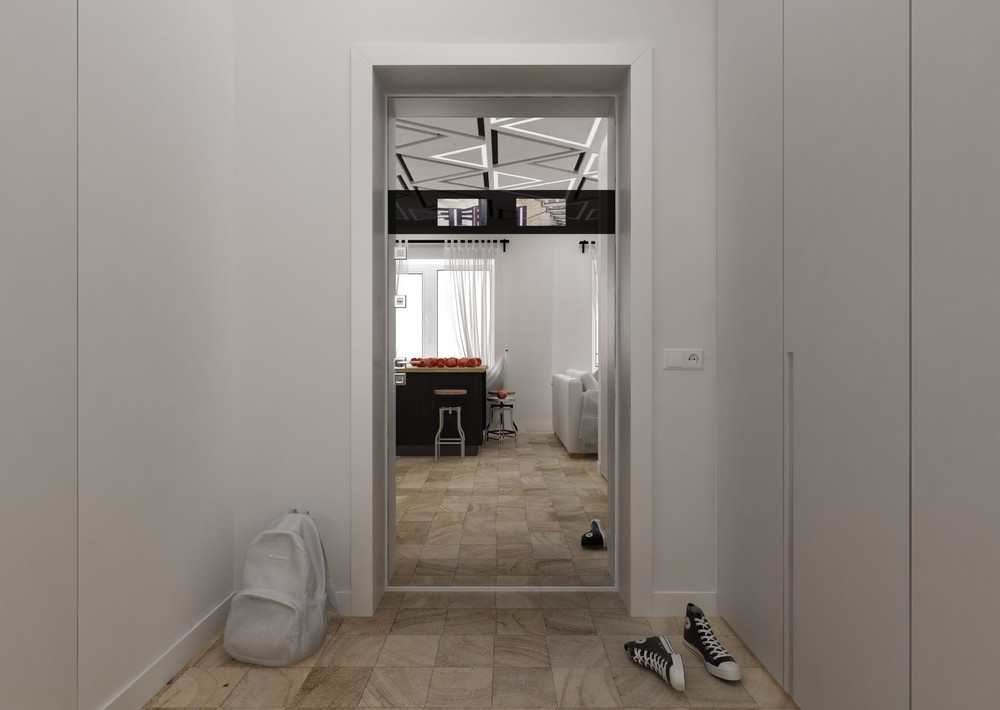 Minimalistic Entryway Inspiration - 4 super tiny apartments under 30 square meters includes floor plans