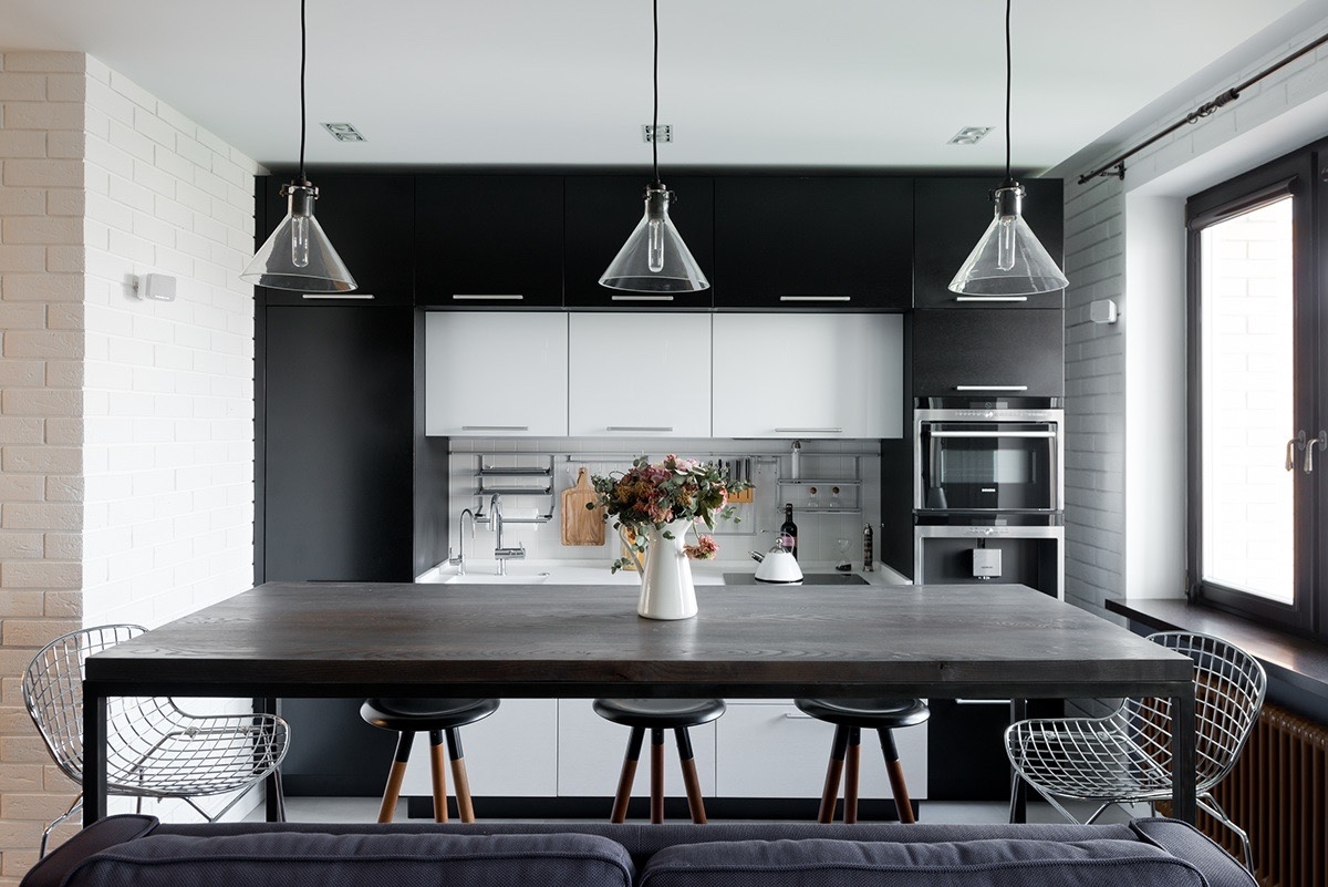 Modern black and white dining room - Modern Black And White Dining Room 56