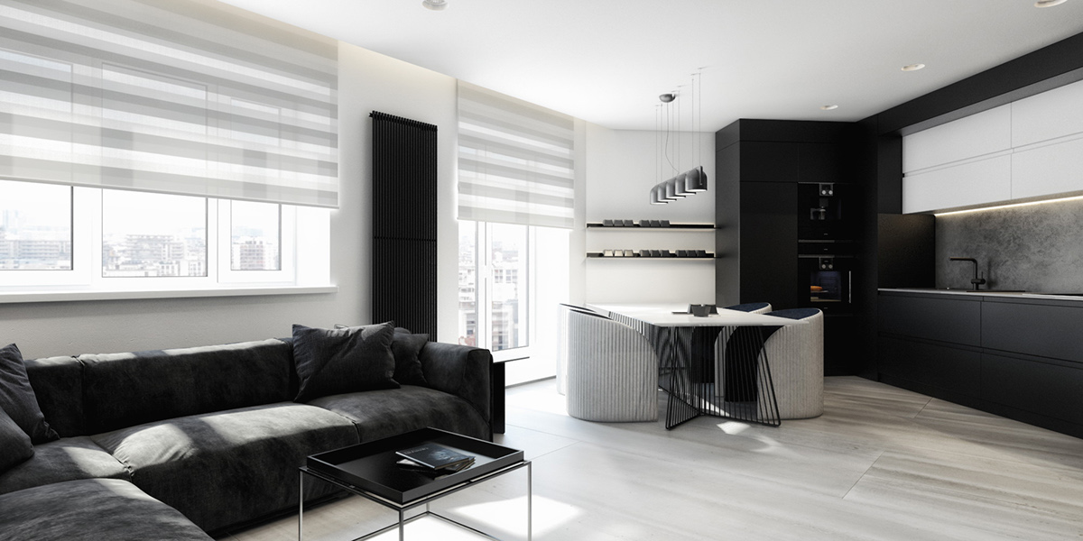 6 perfectly minimalistic black and white interiors for Interior house designs black and white