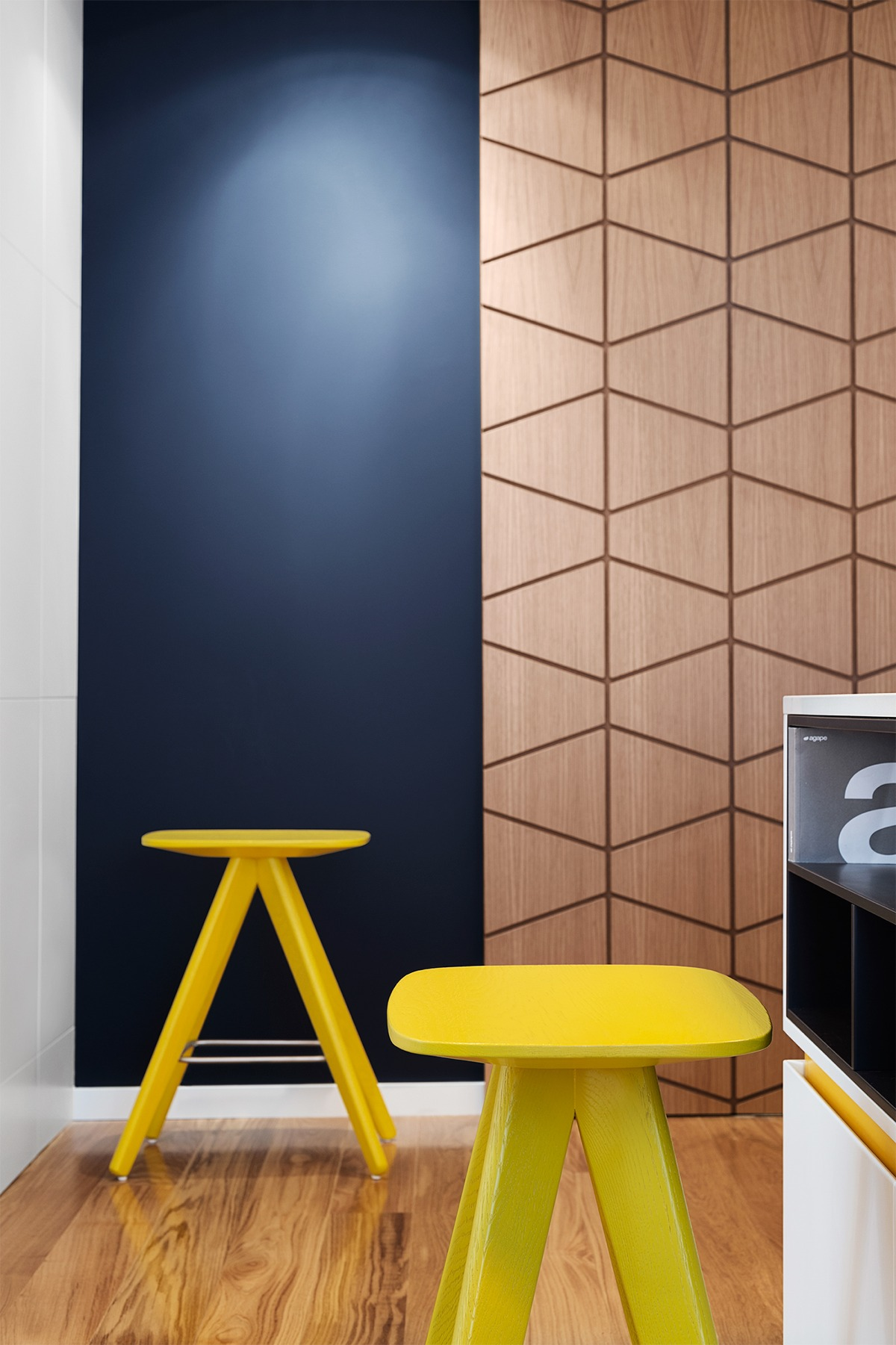 Geometric Interior Design a mid-century inspired apartment with modern geometric accents