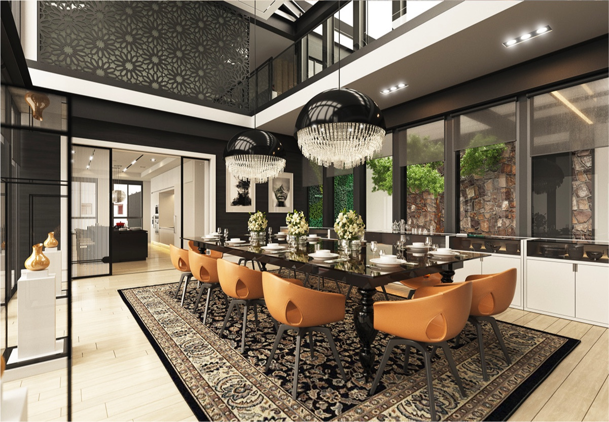 Dining rooms that mix classic and ultra modern decor for Contemporary furnishings