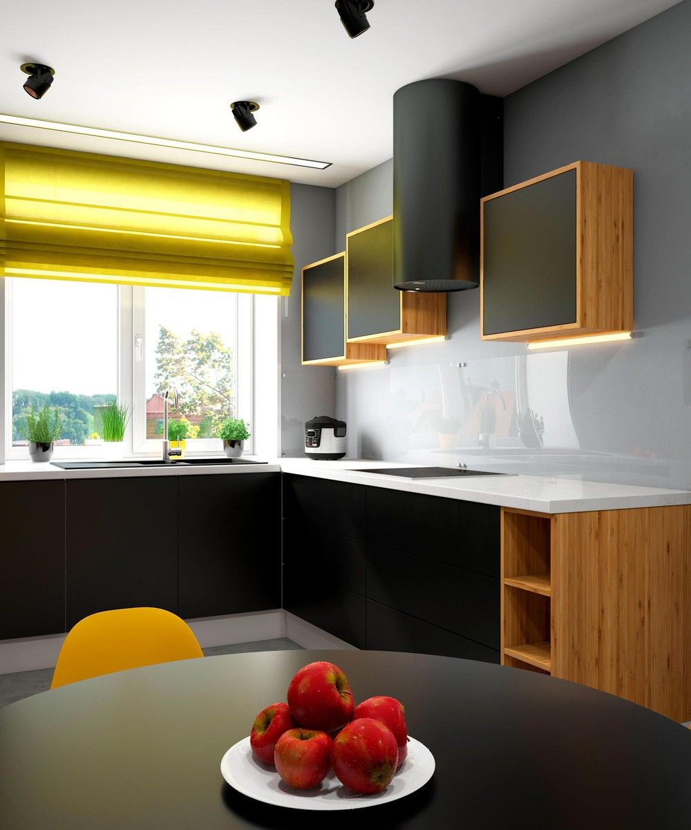 Modern Yellow Kitchen Palette - 2 bright homes with energetic yellow accents