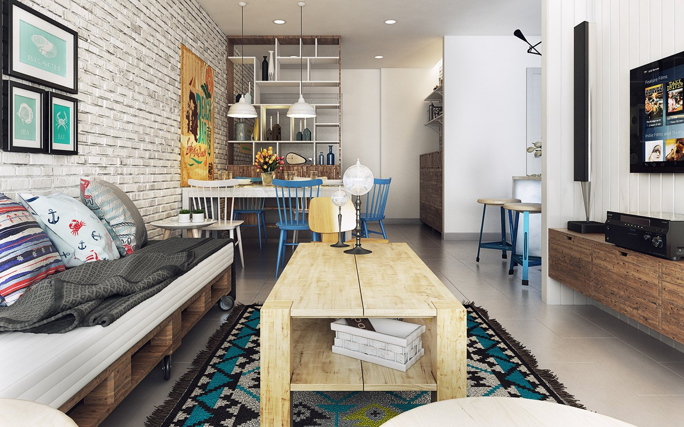 Nautical Nordic Theme - 10 stunning apartments that show off the beauty of nordic interior design