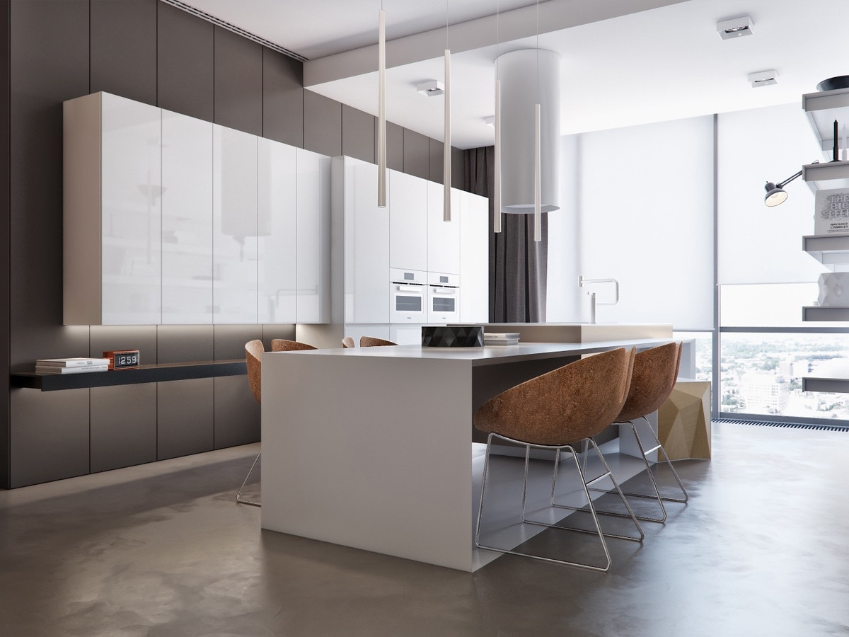 Neutral Kitchen Decor Inspiration - Two apartments with sleek grayscale interiors