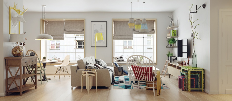 Nordic Home With Colorful Accents - 10 stunning apartments that show off the beauty of nordic interior design