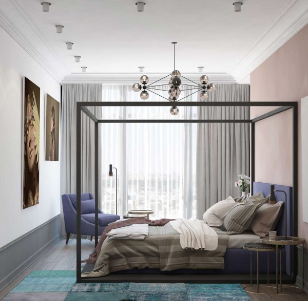 A pair of modern homes with distinctively bright color themes assess myhome - Mauve bedroom decorating ideas ...