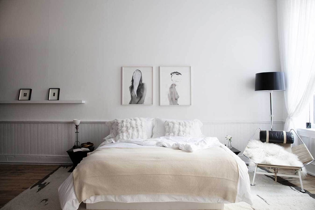 Scandinavian bedrooms ideas and inspiration for Bed decoration simple