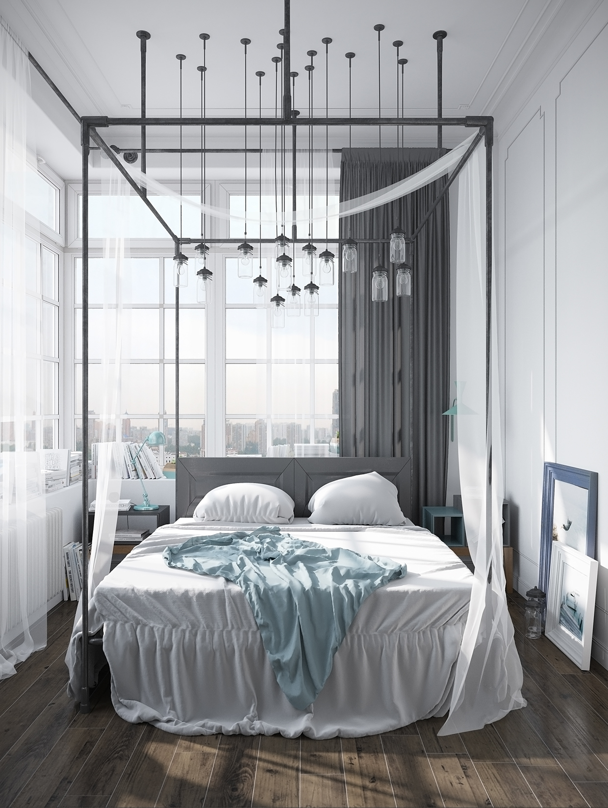 Scandinavian Bedrooms Ideas And Inspiration: industrial scandinavian bedroom