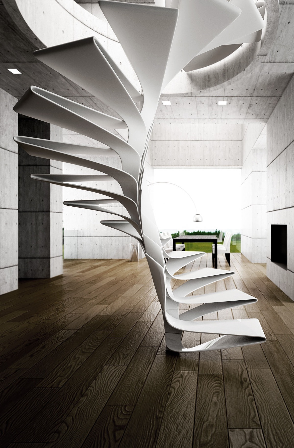 25 unique staircase designs to take center stage in your home for Architecture spiral staircase