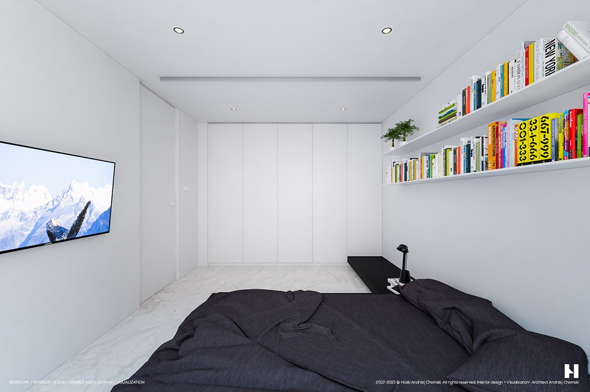 Simple Black And White Bedroom - 6 perfectly minimalistic black and white interiors