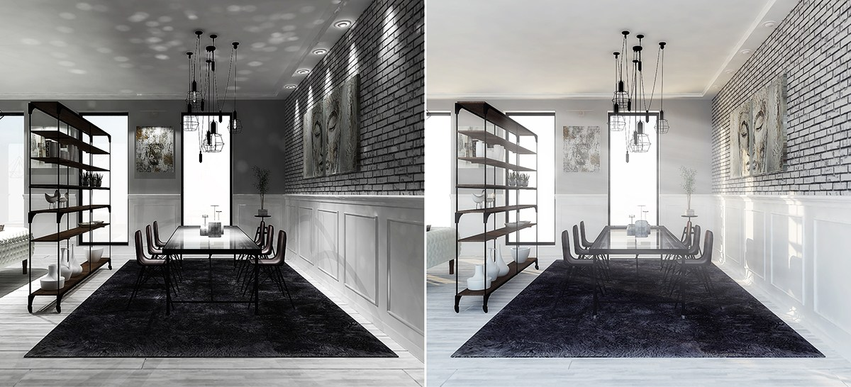 Sophisticated Grayscale Apartment Interior - 6 perfectly minimalistic black and white interiors