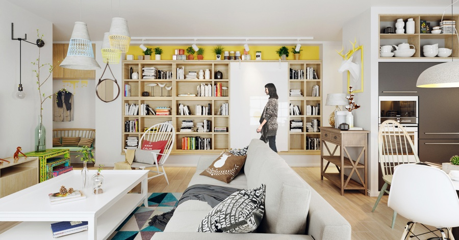 Super Colorful Scandinavian Home - 10 stunning apartments that show off the beauty of nordic interior design
