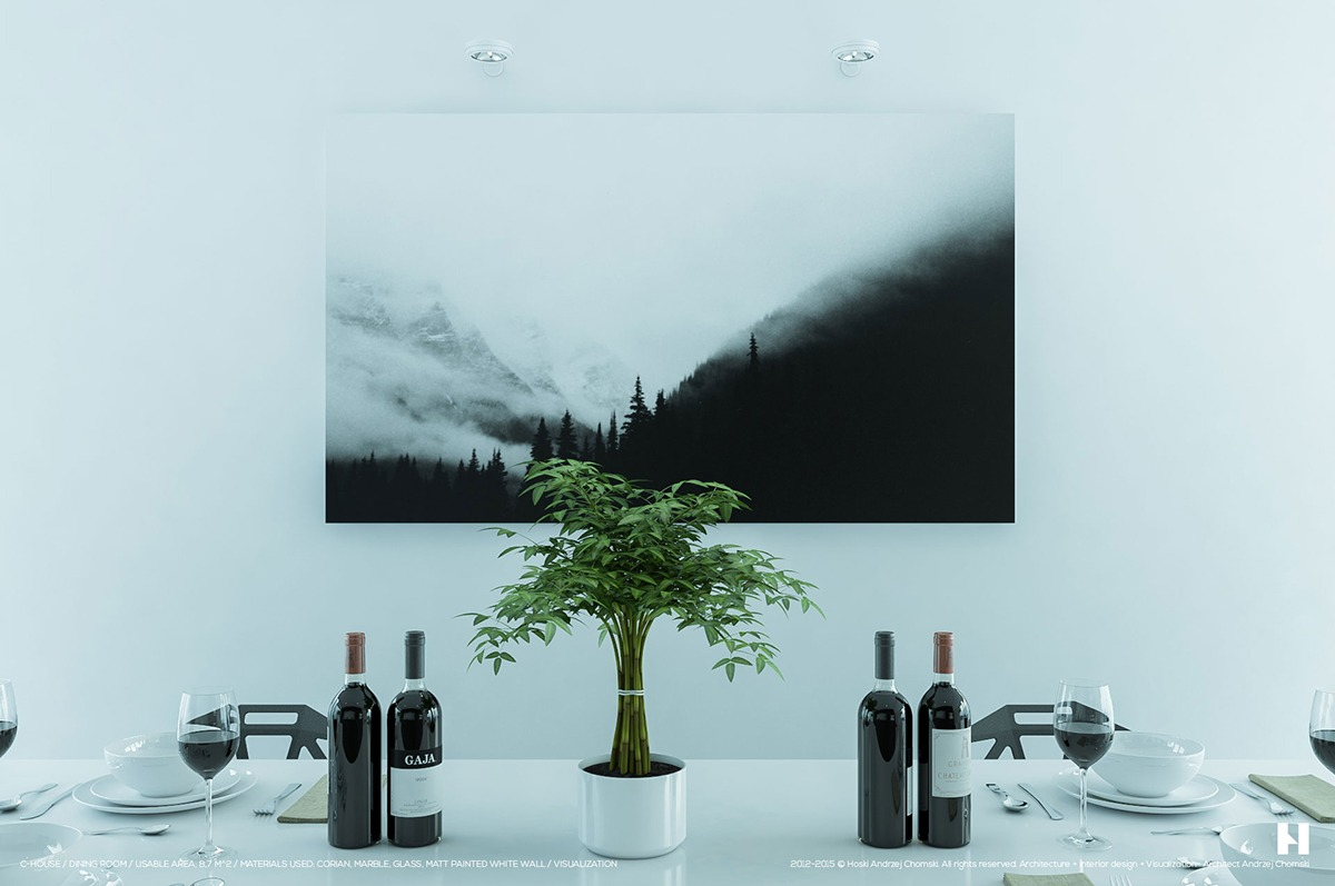 Tasteful Black And White Table Setting - 6 perfectly minimalistic black and white interiors