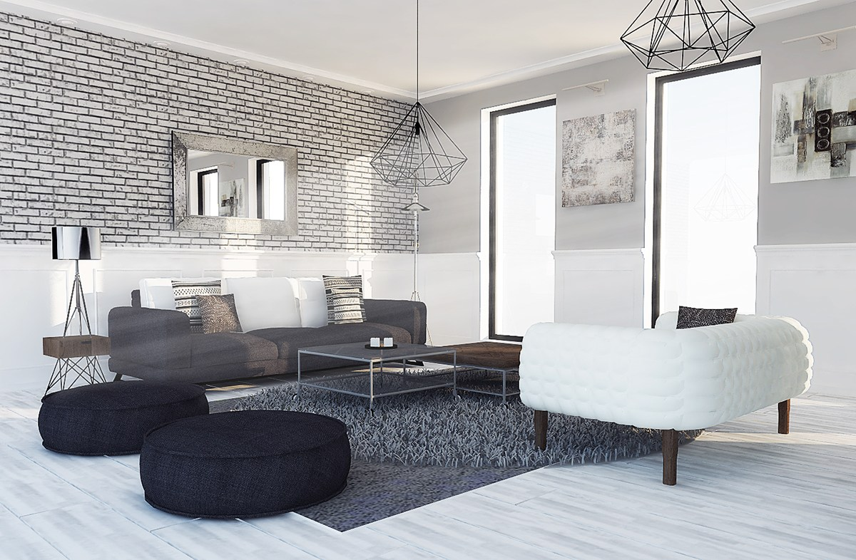 Tasteful Grayscale Design Ideas - 6 perfectly minimalistic black and white interiors