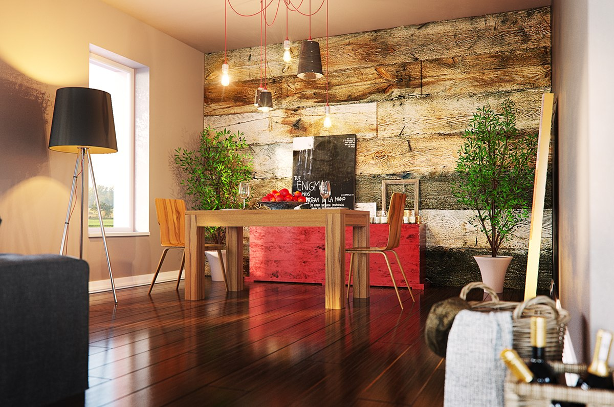 3 stylish modern homes with dark red accents. Black Bedroom Furniture Sets. Home Design Ideas
