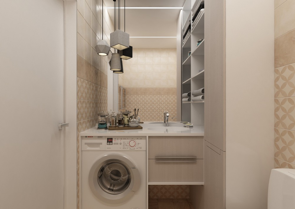 4 super tiny apartments under 30 square meters includes for Super small bathroom