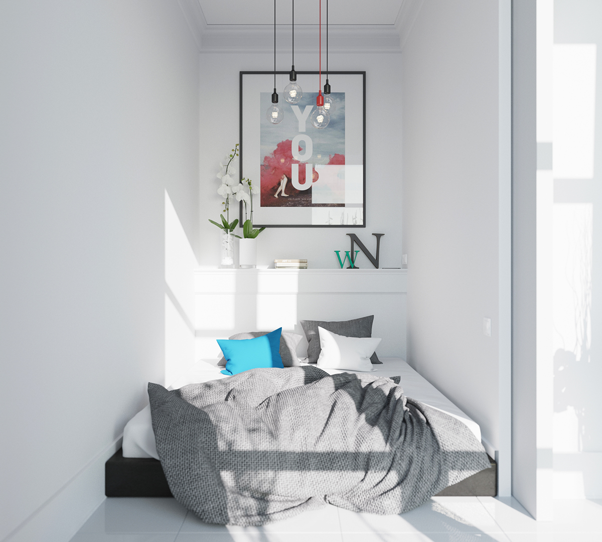Scandinavian bedrooms ideas and inspiration for Tiny bedroom decor