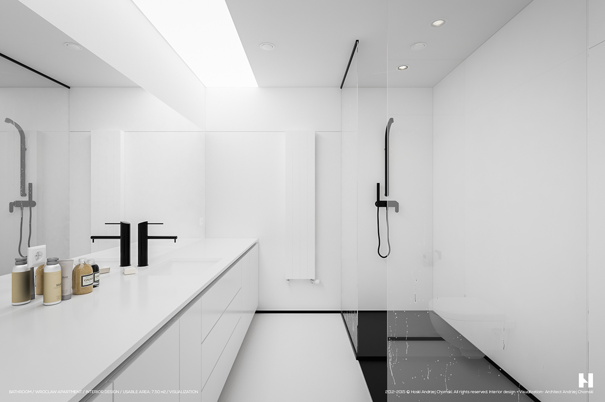 Minimalist Bathroom Interior Perfectly Minimalistic Black And White Interiors