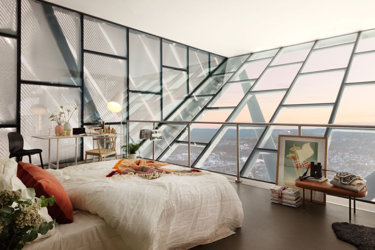 Scandinavian bedrooms ideas and inspiration for Interior decoration with glass