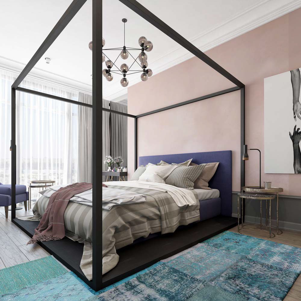 Unique Interior Color Theme Inspiration - A pair of modern homes with distinctively bright color themes