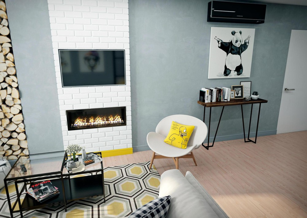 Yellow And Light Blue Interior Design - 2 bright homes with energetic yellow accents