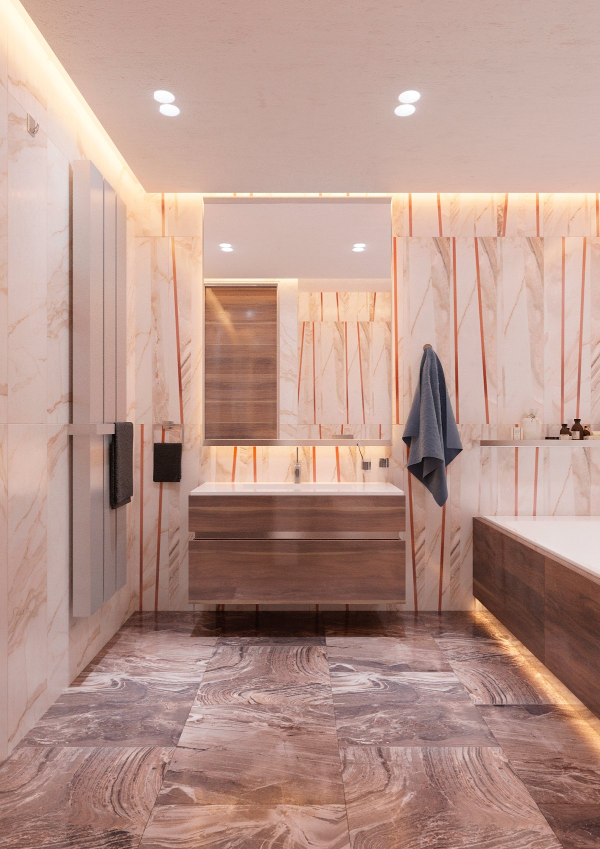 Amazing Bathroom Stone Tile - 5 ideas for a one bedroom apartment with study includes floor plans