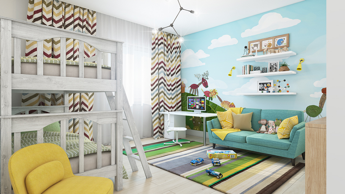 Wall Designs For Toddler Rooms : Clever kids room wall decor ideas inspiration