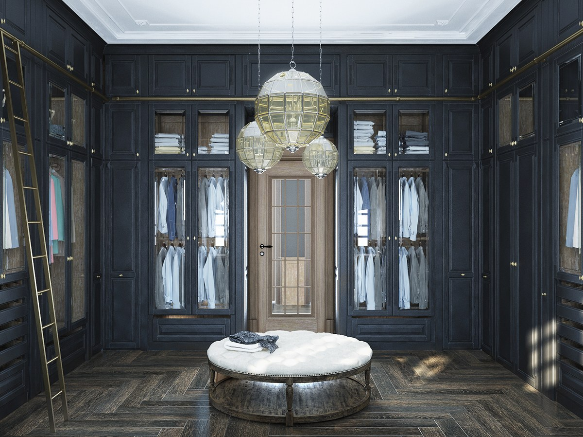 Neoclassical and art deco features in two luxurious interiors for Design and deco