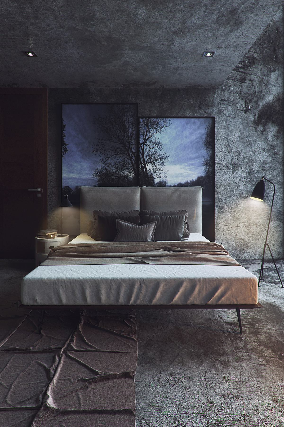 Bedroom With Dramatic Atmosphere - 8 striking bedrooms with distinct personalities